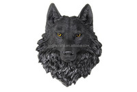 resin animal head wall mount wolf resin wall animal head sculpture