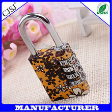 HOT SALE! Fashion 4 Digit Resettable Cute Colorful Changeable Combination Padlock Art Locks