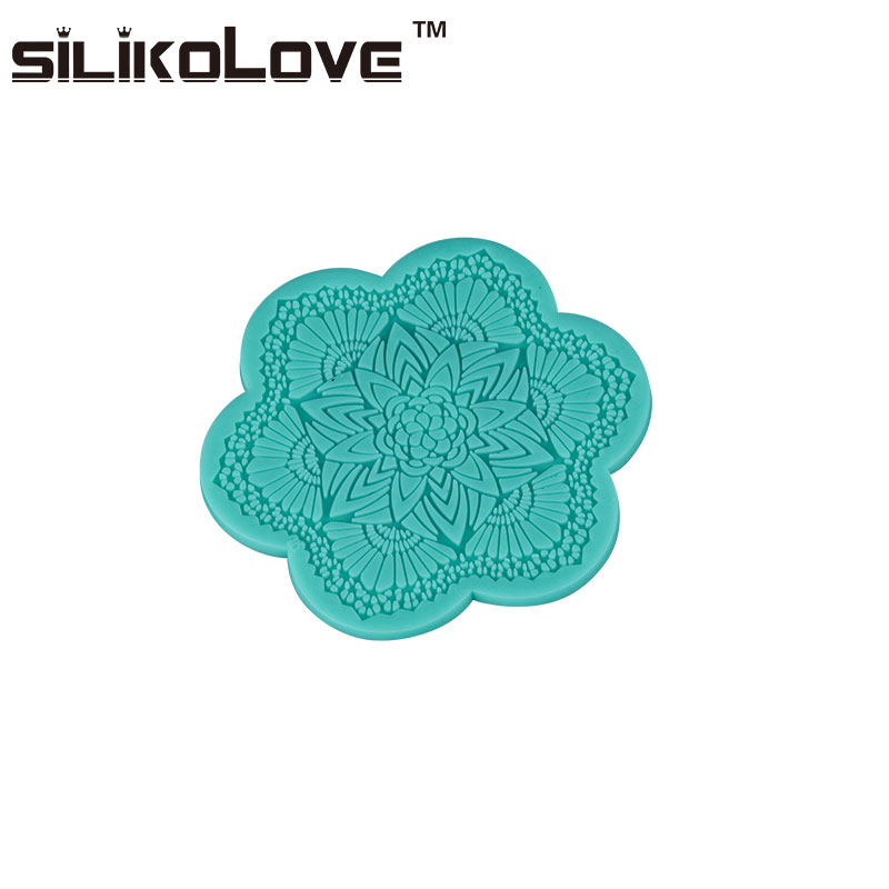 Fda&Lfgb Flower Pattern Mat Shape New Style Silicone Cake Mold Homemade Lace Cake Decorating Tools Fondant Molds