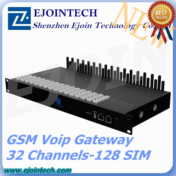 12 months warranty!! Ejointech 32 Ports 32/128 Sims goip gsm gateway asterisk compatible ip phones