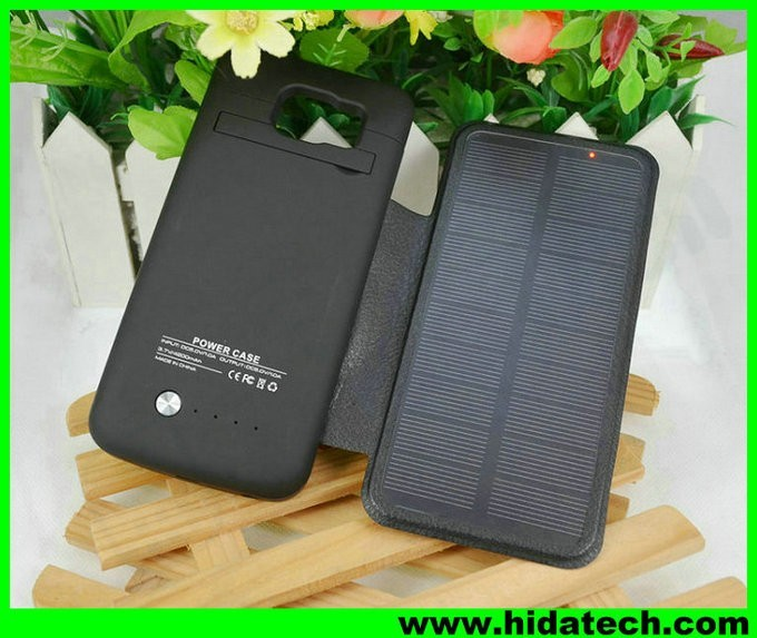 New product 4200mah external battery case solar mobile flip leather charger cover for samsung galaxy note 3