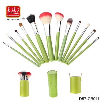 12 In 1 Cosmetic Brush Set.Cosmetic Tools. wooden handle makeup brush set