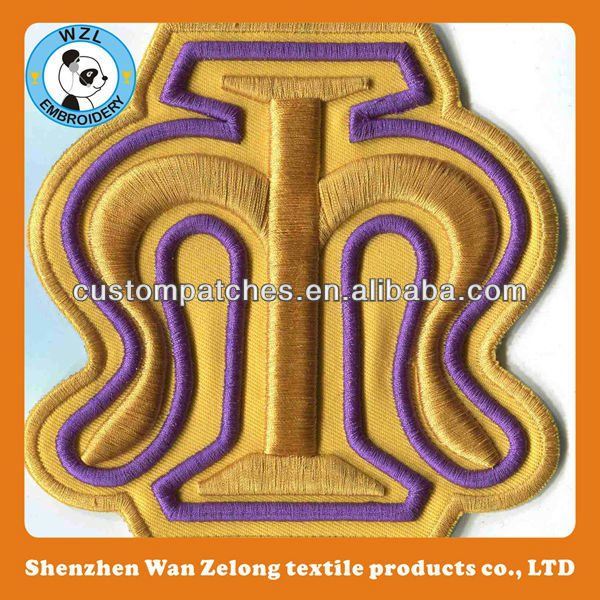 Customized 3D High Quality Clear Embroidery Patches in wholesale
