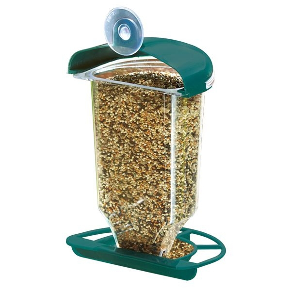 outdoor plastic window bird feeder with suction