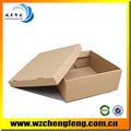 corrugated paper box for shoes package without printing
