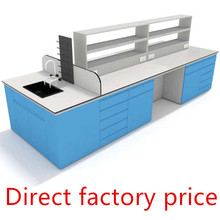 Wooden Dental Laboratory Furniture good quality MDF central island Lab Table workbench price