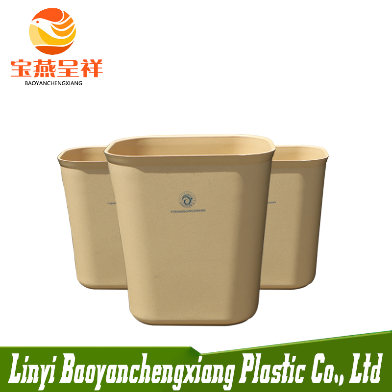 square plastic sanitary dustbin with customize printing