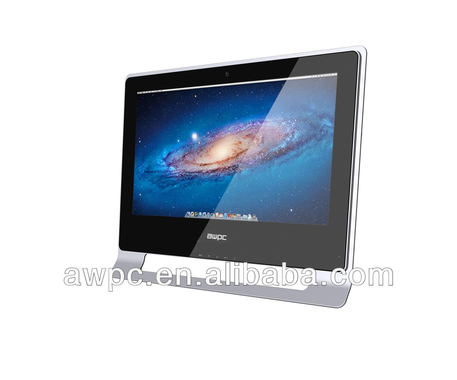 AWPC 21.5'' hot sell all in one pc with intel ATOM D2500 duo core OEM