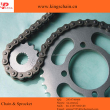 Motor chain sprocket set for 428