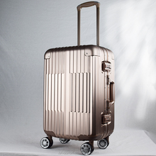 best business travel carry-on full aluminium luggage with removable wheels