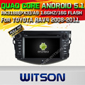 WITSON Android 5.1AUTO CAR DVD GPS For TOYOTA RAV4 2008-2011 WITH CHIPSET 1080P 16G ROM WIFI 3G INTERNET DVR SUPPORT