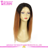 Top Quality 7A 100% Brazilian Virgin Human Hair Silky Straight T Color Ombre Silk Base Full Lace Wig