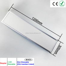 1200*300*9mm ultra-thin led recessed ceiling panel light DC24V,3319LM,45W,Standard/European/color temperature adjustable styles