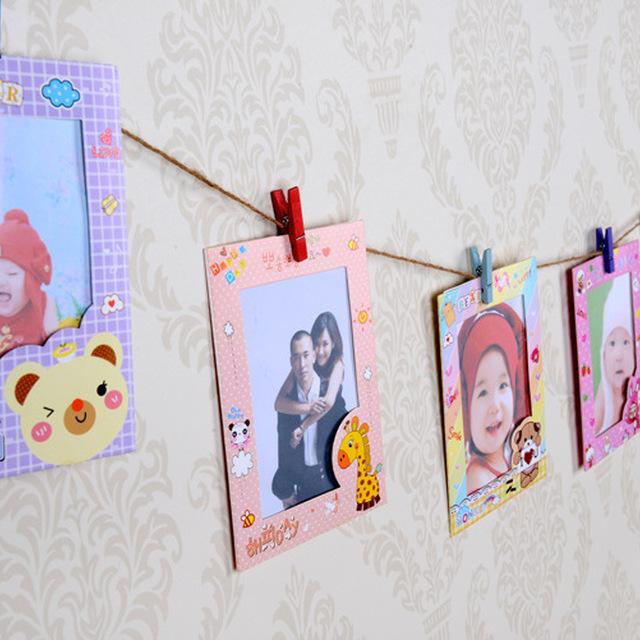 Hot selling decoration paper frame kraft paper package photo frame
