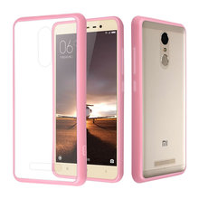 C&T Pink TPU Bumper Crystal Clear Hard Case Back Cover for Xiaomi Redmi Note 3