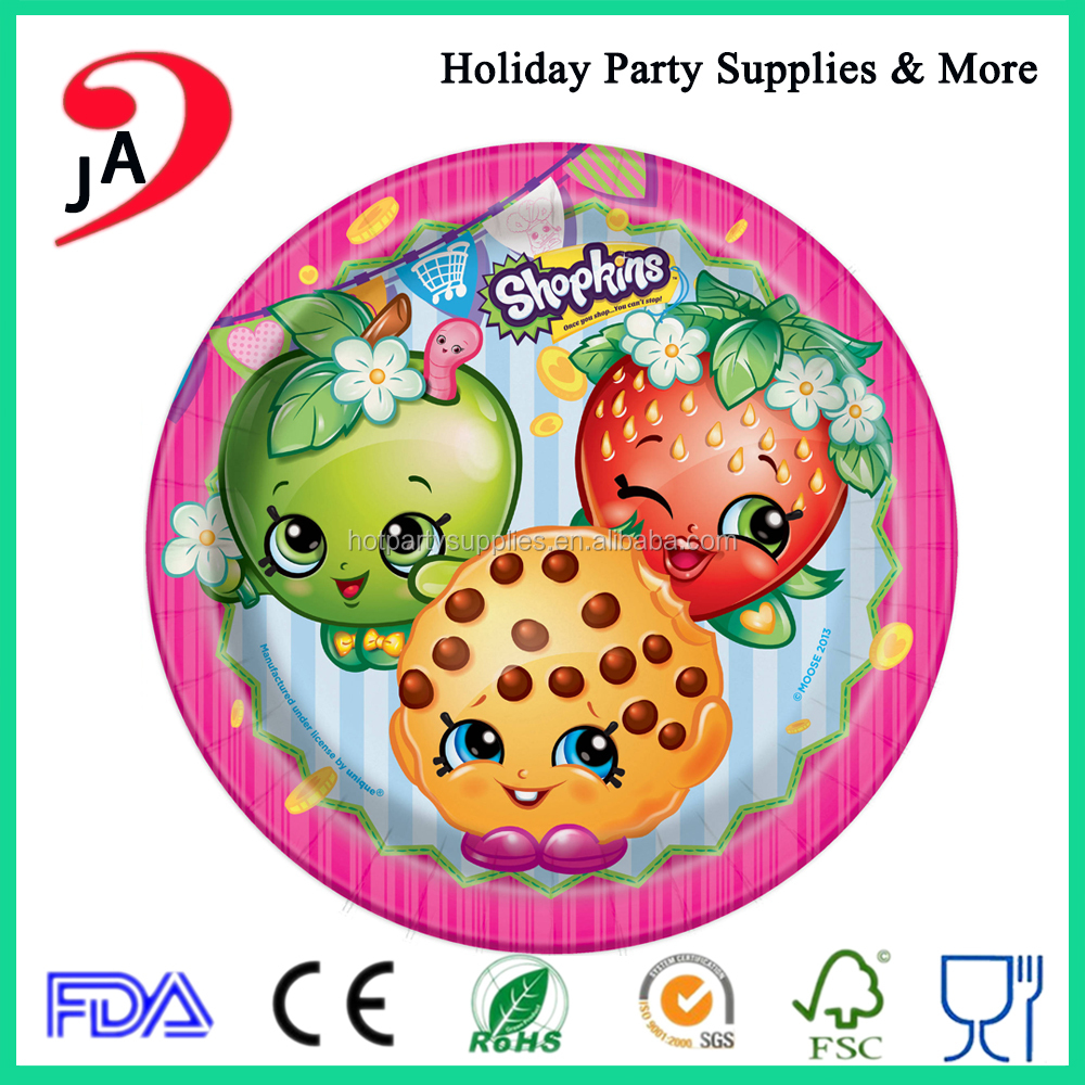 Wholesale Custom Cartoon Design Professional Party Decoration 5 inch Paper Plate