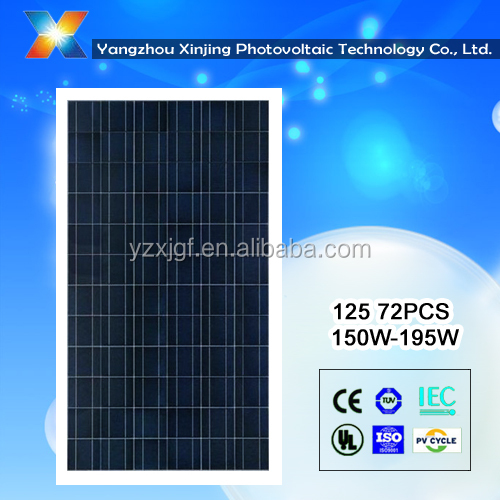 China mono crystalline silicon solar panels 165watt