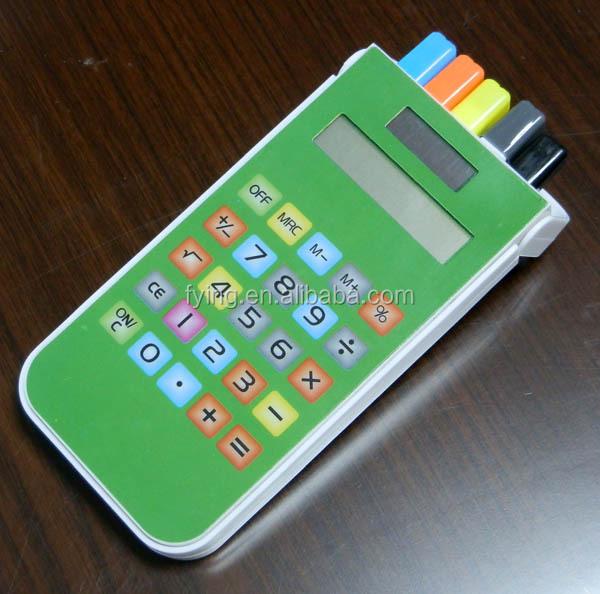 solar panel touch screen calculator calculatrice pencil box with calculator, pencil case with calculator