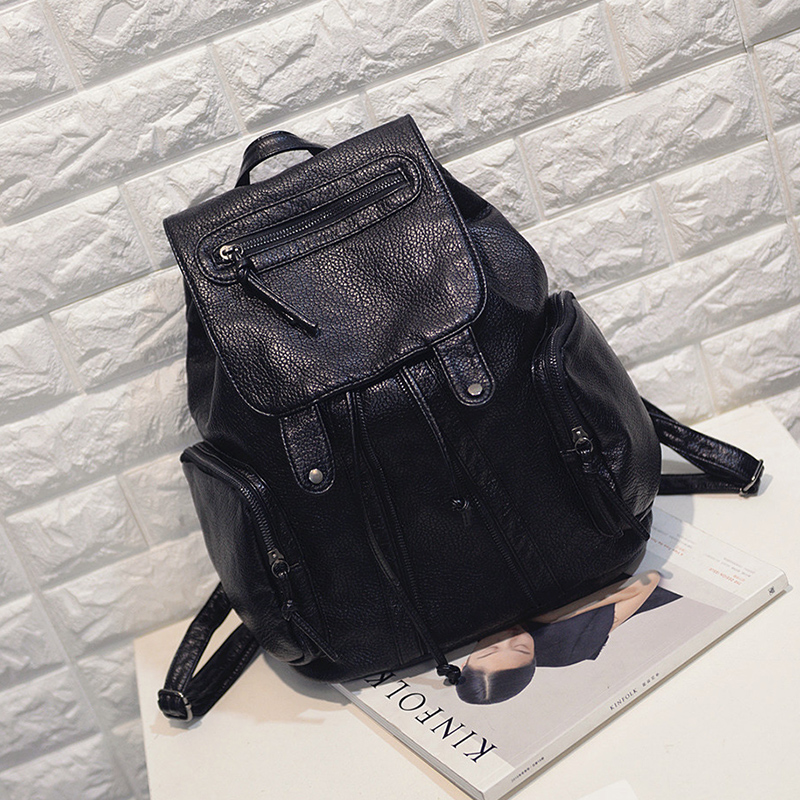 china wholesale custom 2017 fashion high quality PU leather <strong>backpack</strong>