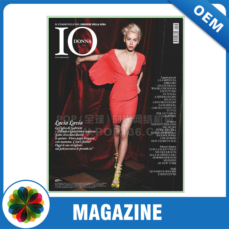 Low price offset printing magazine printing with glossy lamination