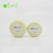 Pleat wrapped small mini disposable hand hotel soap toilet bath bar soap with logo for 5 stars hotel