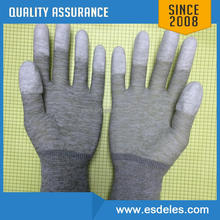 Safety Cleanroom PU Top Fit Carbon ESD Gloves Antistatic Glove