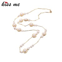 Fine Gems Imitation Pearl Necklace Beads Chain Well Suited Accessories Necklaces Jewelry