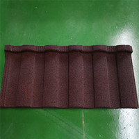 Simple install roman stone coated metal roof tiles/Stone Chip Coated Metal Roof Tile Sheet