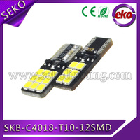 Seko latest car t10 canbus led ,194 w5w canbus error free no flicker 2835smd bulb