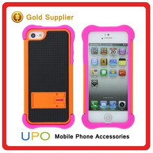 [UPO] Custom Rubber Hybrid Combo Armor Phone Case with Kickstand for iPhone 5s