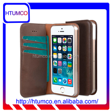 Popular Stylish Wallet Mobile Phone Case Premium Italian Leather Case for Apple iPhone 5s / 5 / SE
