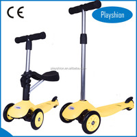 Multi Function 3 in 1 Plastic Kick Children Mini Scooter for Kids With Baby Seat