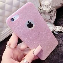 Ultra Thin Glitter Bling Skin Crystal Soft Gel TPU Back Cover Phone Cases For iPhone
