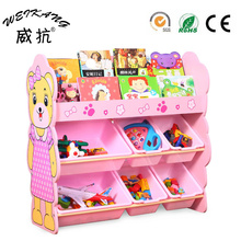 China wholesale kids furniture children kids toy storage cabinets with bookshelf