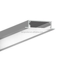 factory price high quality flat wide linear LED aluminum extrusion profile for flexible or rigid LED strip