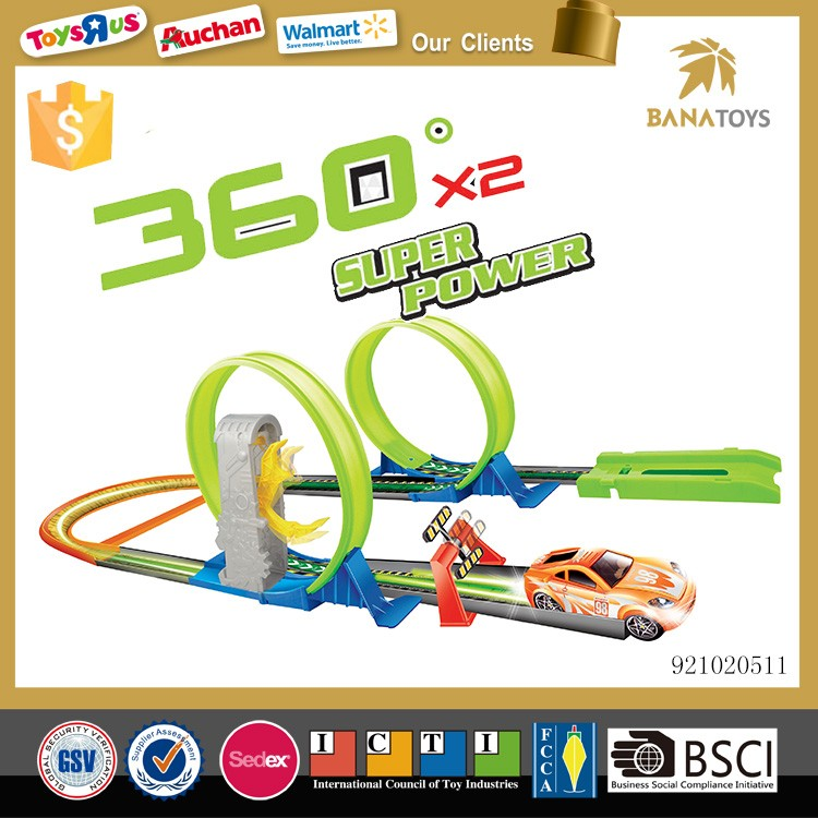 New design pop up car stunt car track