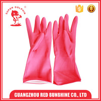 Household latex rubber cleaning gloves
