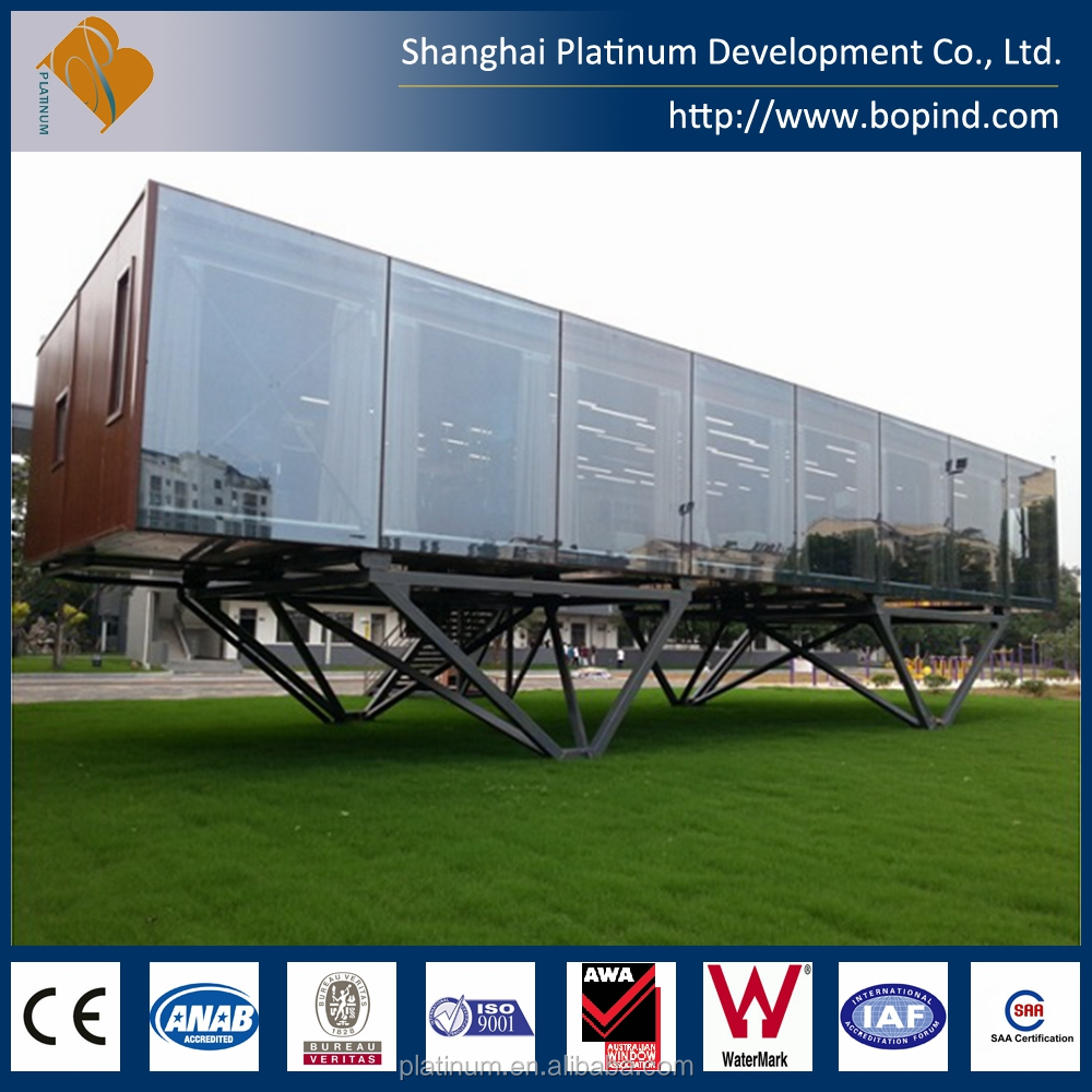 Modern Zero Carbon Modular Prefabricated Glass Wall House