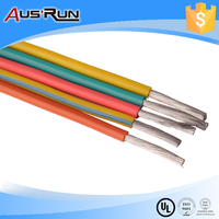 yellow green color braidless silicone rubber heat resistance wires and cables in car