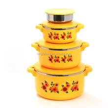 4pcs Printed Plastic Insulated Thermal Food Storage Container