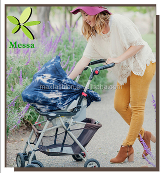 Stretchy Multi-use Tie Dye Baby Car Seat Cover Shopping Cart Cover Nursing Scarf