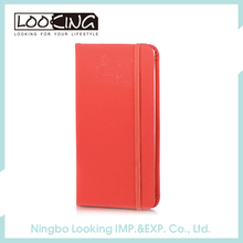 Wholesale Green And Red PU School Notebooks