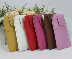 Genuine credit card pouch bag for iphone 5