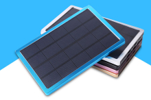 Factory cheap price top selling Large capacity 10000mah Solar power bank for mobile