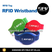 Custom Printing ICODE SLI ISO15693 13.56MHz NFC Silicone/PVC/PET Wristband/Bracelet for Promotion/Security