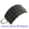 Sun power flexible high efficiency mono solar module 100W solar panel for boat, roof,