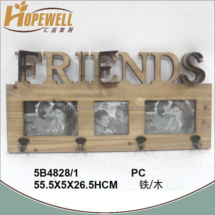 Manufacture shabby chic multi friends iron full hot sexy photo frame