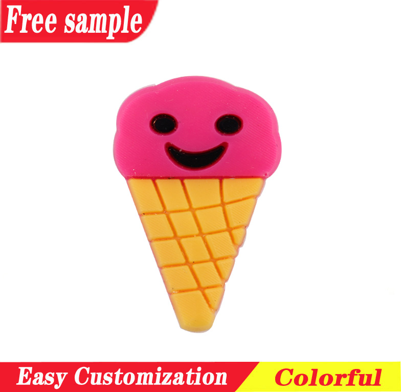 Small style ice-cream PVC soft charms