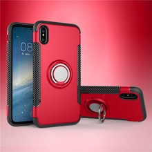 Anti shock Case For iPhone X Case Cover 2 in 1 Armor Stand Holder For iPhone X Case Cover
