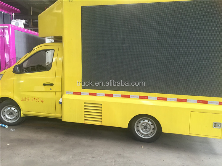 electronic advertising led banner led mobile truck for sale